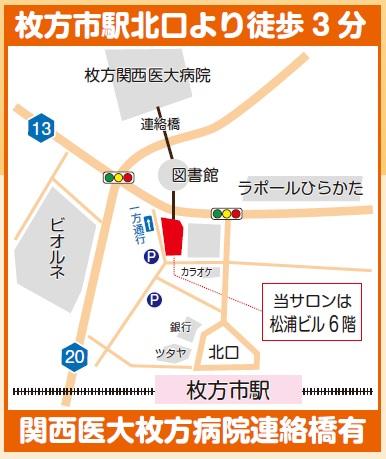 枚方市駅からの地図