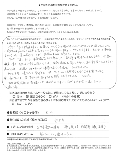 KN様アンケート